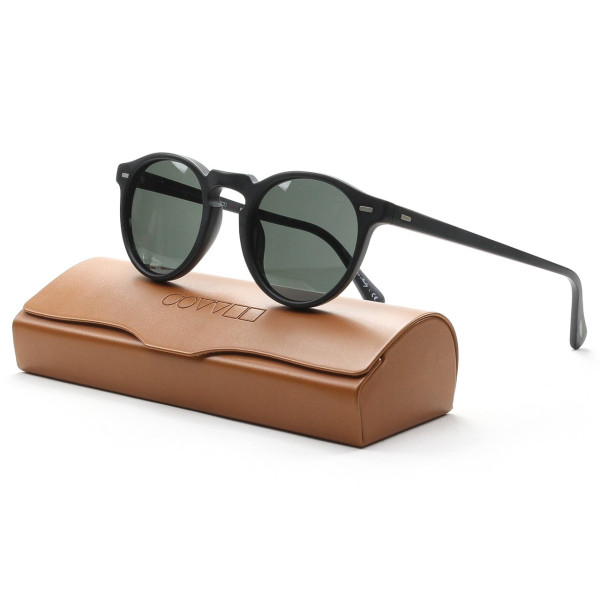 Oliver Peoples Gregory Peck Sunglasses, Matte Black