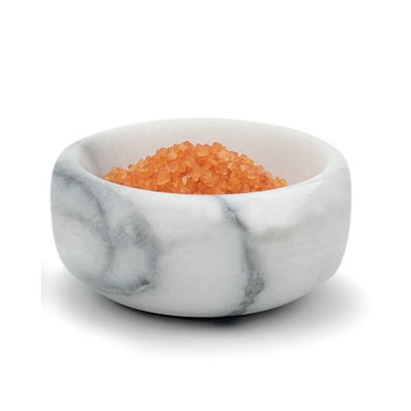 RSVP White Marble Herb and Salt Bowl