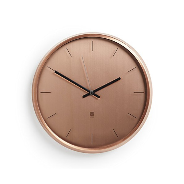 Umbra Meta Wall Clock, Copper