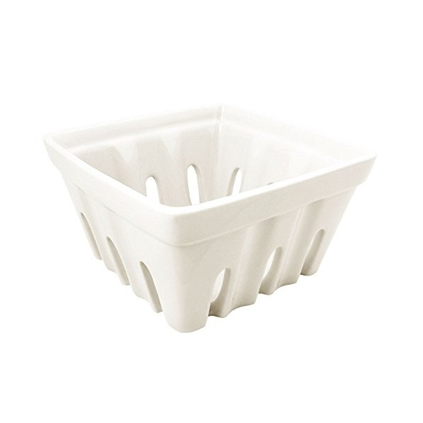 Fishs Eddy Ceramic Berry Basket (White)