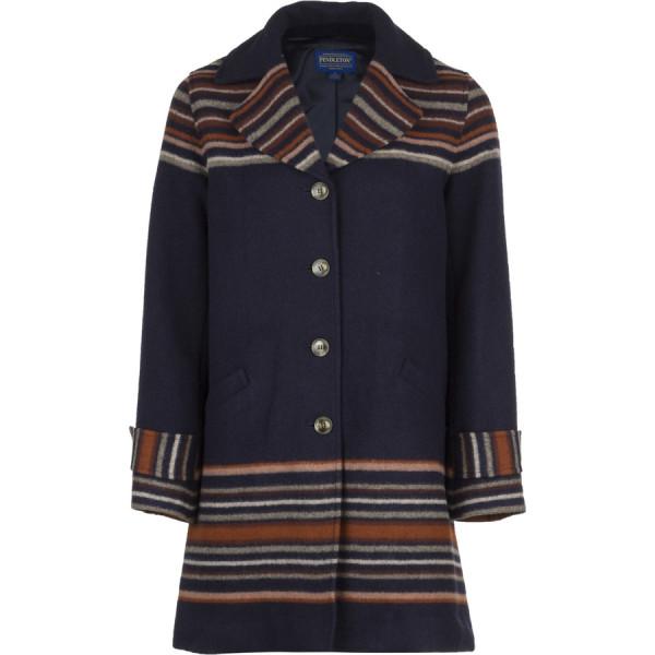 Pendleton Women's Arroyo Coat, Sunset Stripe Jacquard