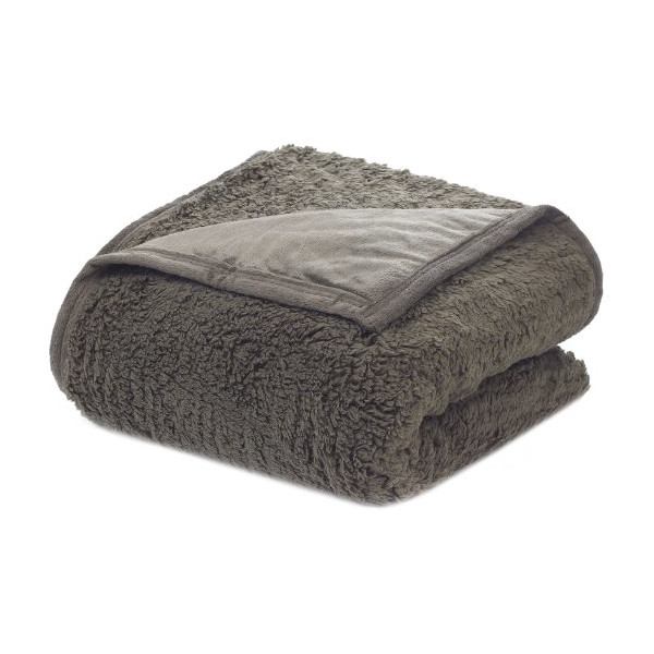 Oversized Reversible Sherpa Blanket, Queen, Mushroom