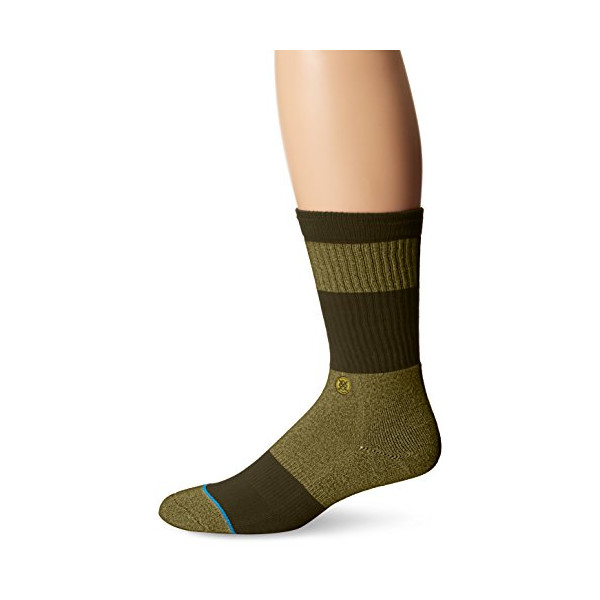 Stance Men's Spectrum Crew Sock, Green, Large/X-Large