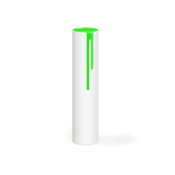 Block Neon Drip Vase, Green
