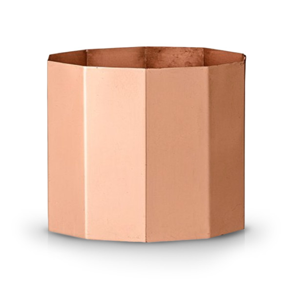 Bloomingville Octagonal Metal Votive Holder with Copper Finish