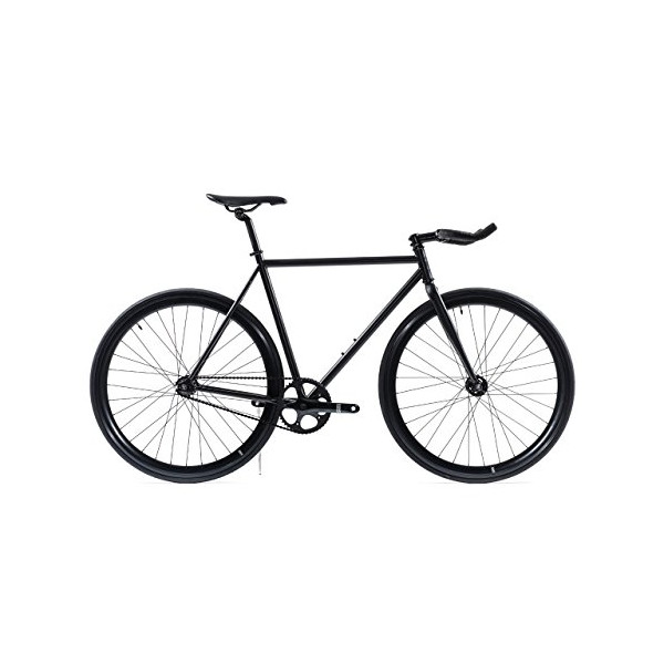 State Bicycle Fixed Gear/Fixie Single Speed Bike, Matte Black 5.0, 55cm
