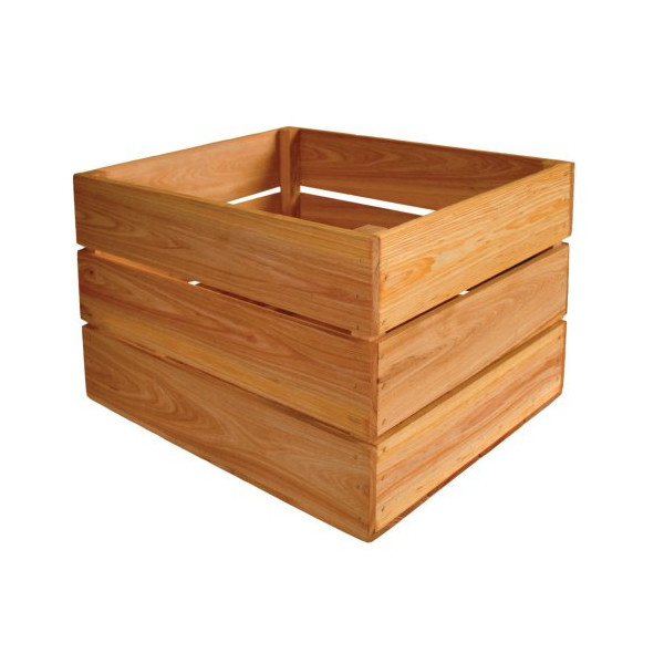Crate Farm OC-1814-OK Bushel Oak Stain Wood Orchard Crate
