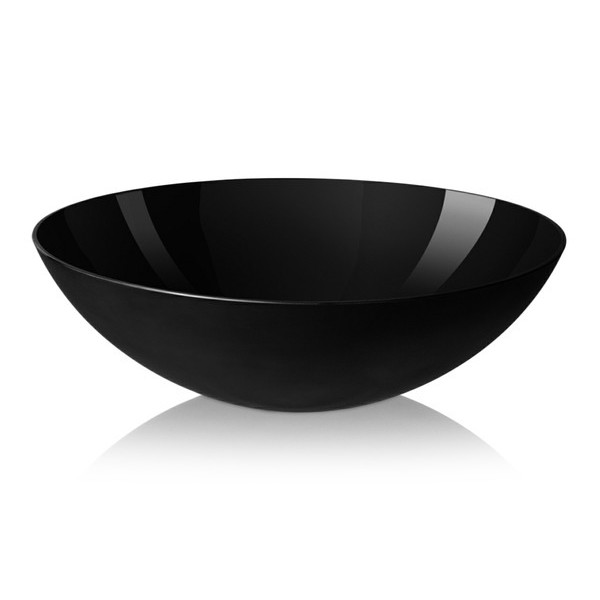 Krenit Melamine Salad Bowl, Black