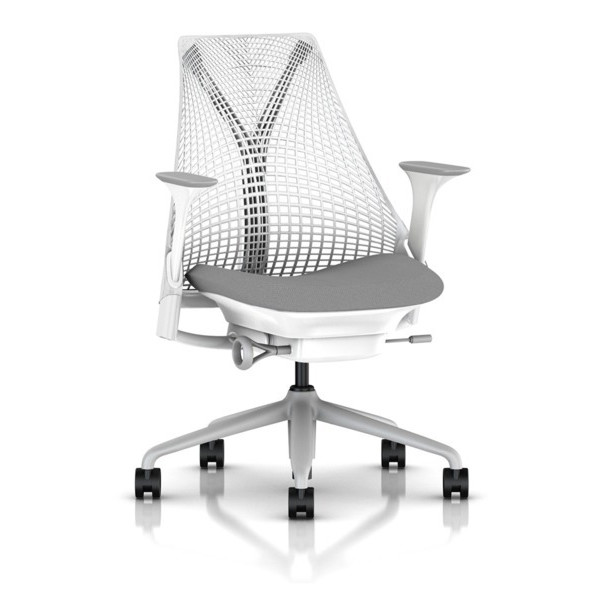 Sayl Chair by Herman Miller, Official Retailer, White, Fog Arms & Shale Seat