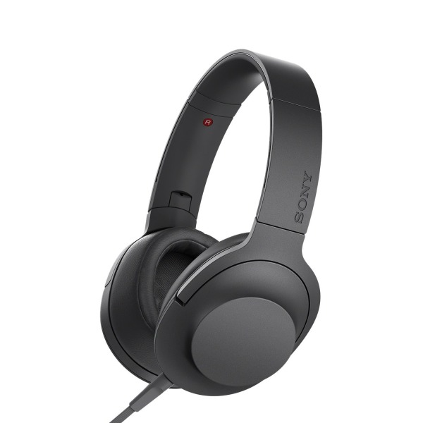 Sony h.ear on Premium Hi-Res Stereo Headphones, Charcoal Black
