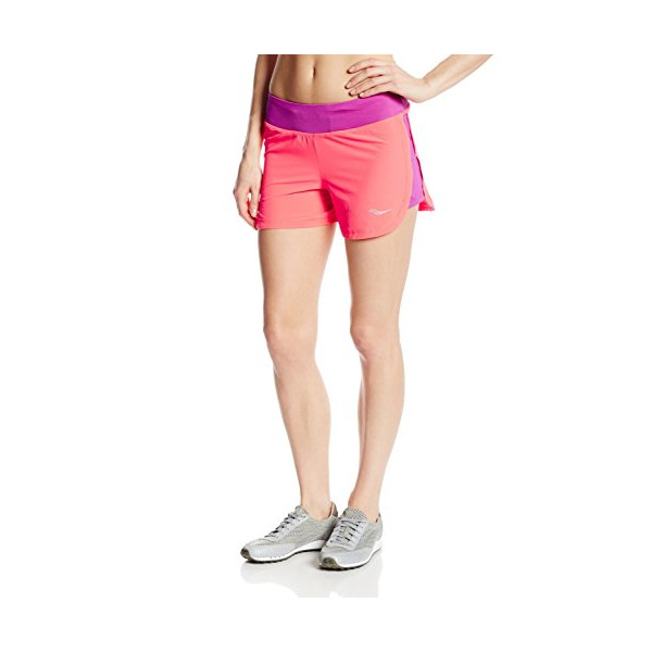 Saucony Women's Impulse Shorts, Passion Purple/Vizipro Coral, Medium