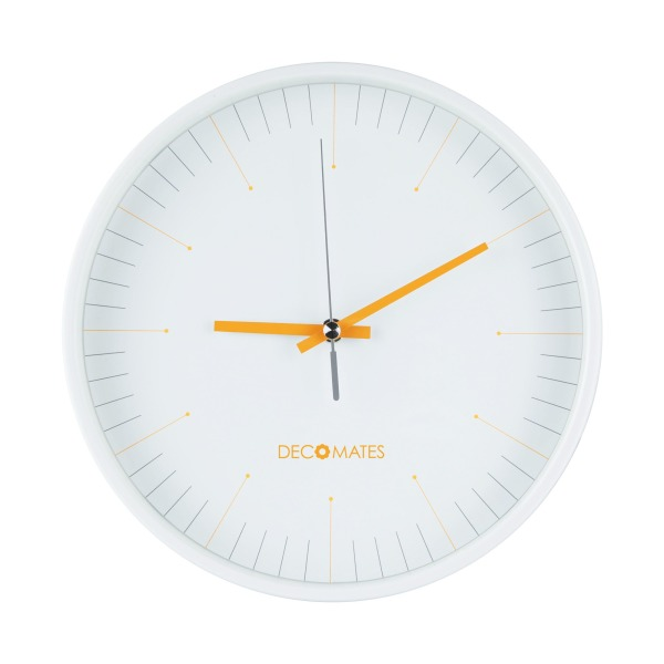 DecoMates Non-Ticking Silent Numberless Wall Clock