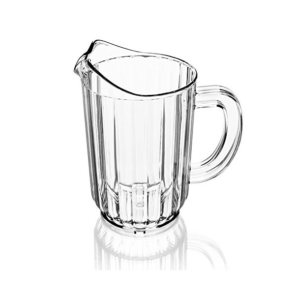 New Star 46106 Polycarbonate Plastic Restaurant Water Pitcher, 60-Ounce, Clear