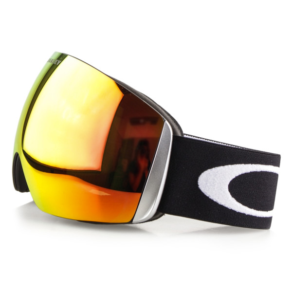 Oakley Flight Deck Matte Black Goggles, Fire Iridium