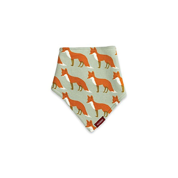 Milkbarn (Zebi Baby) Kerchief Bib (Orange Fox)