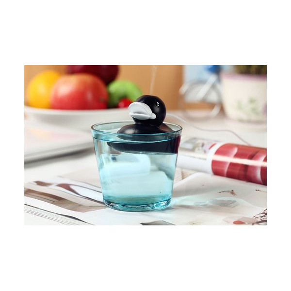 No.2 Warehouse Mini Portable New Style Duck Air Humidifier with USB Cable for Office Home (Black Duckling)+ a Piece of Clean Cloth