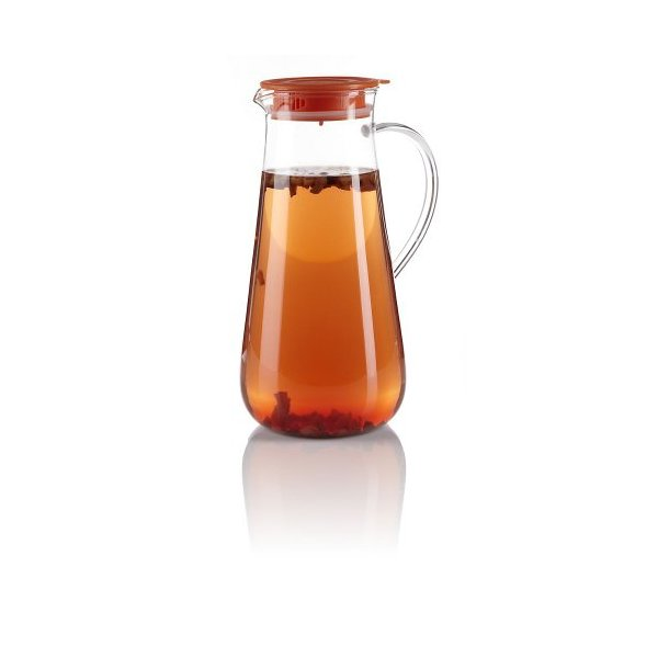 Teavana Iced Tea Glass Pitcher with Orange Lid