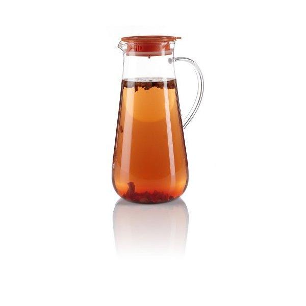 Teavana Iced Tea Glass Pitcher with Orange Lid