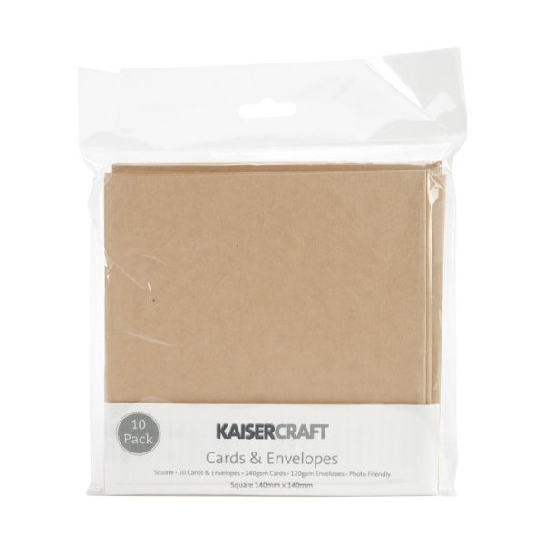 Kaisercraft 5.5 x 5.5-inch Square Cards and Envelopes