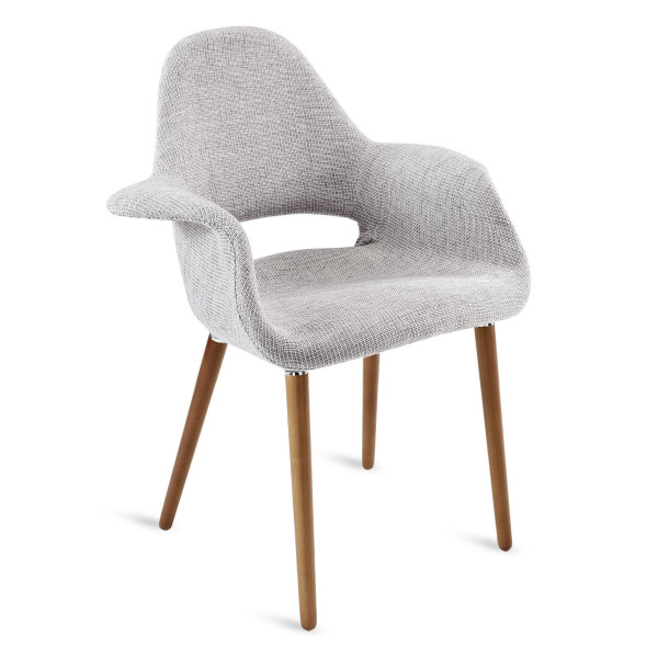 LexMod Aegis Accent Chair, Light Gray