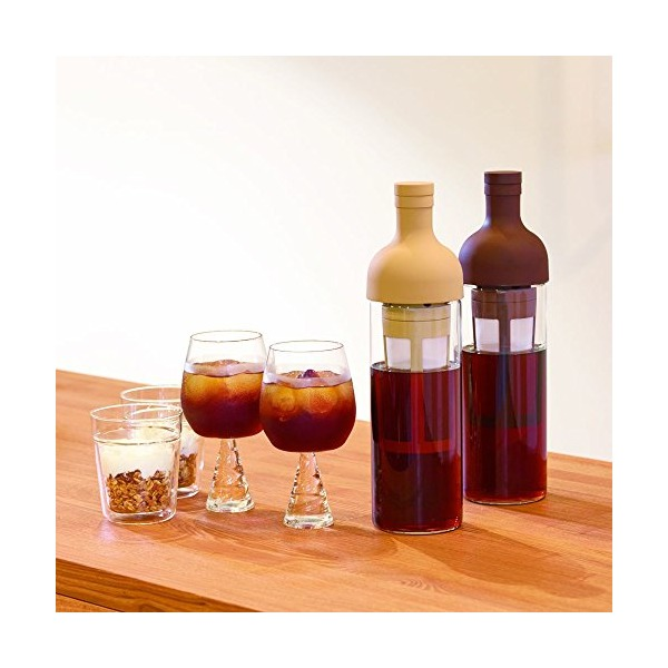Hario Filter-In Wine-Bottle-Shaped Cold Brewer 650ml (Chocolate Brown)
