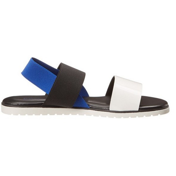 Studio Pollini Women's Multistrap Fisherman Sandal,White/Black/Blue37 EU/7 M US,White/Black/Blue,37 EU/7 M US