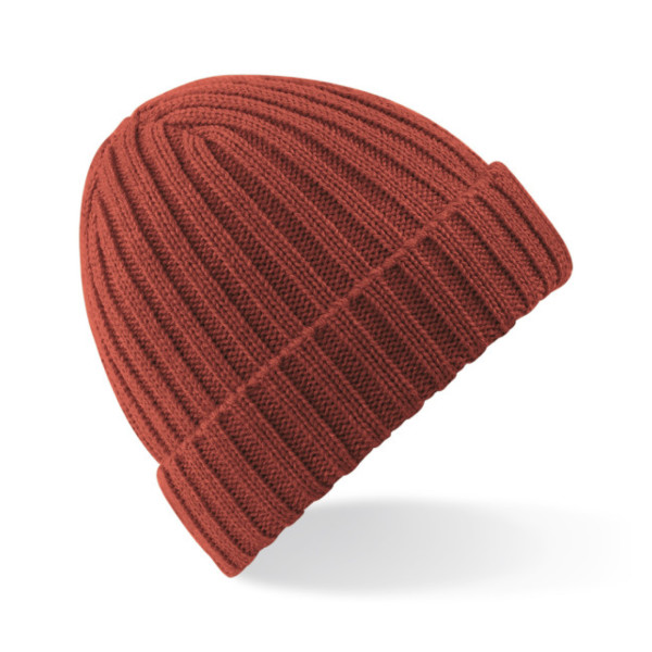 Beechfield Unisex Winter Chunky Ribbed Beanie, Orange Rust
