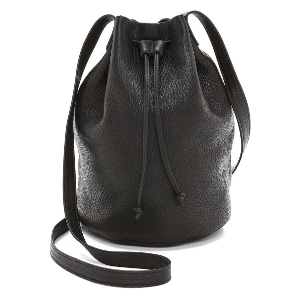 Baggu Women's Drawstring Bucket Bag, Black