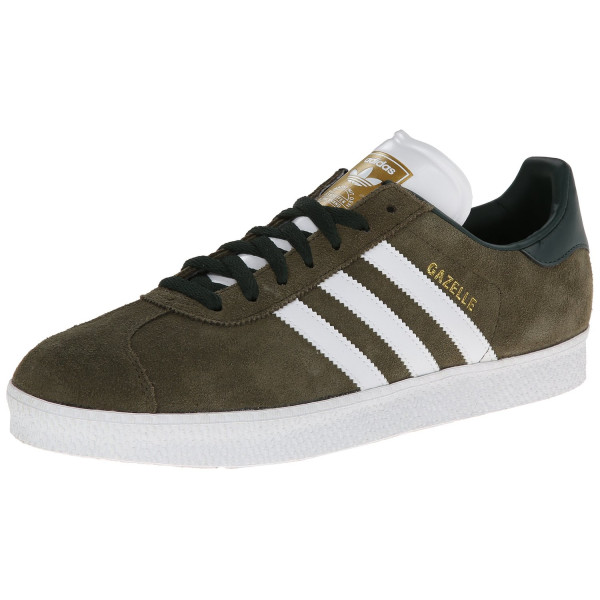 Adidas Men's Gazelle II Originals Drkcar/Ftwwht/Goldmt Casual Shoe 10 Men US