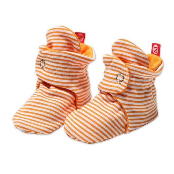 Zutano Baby-Girls Infant Candy Stripe Bootie, Orange, 18 Months