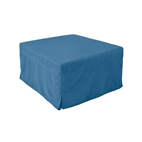 Nova Furniture Group Magical Ottoman Sleeper With Microfiber Slip Cover, Blue