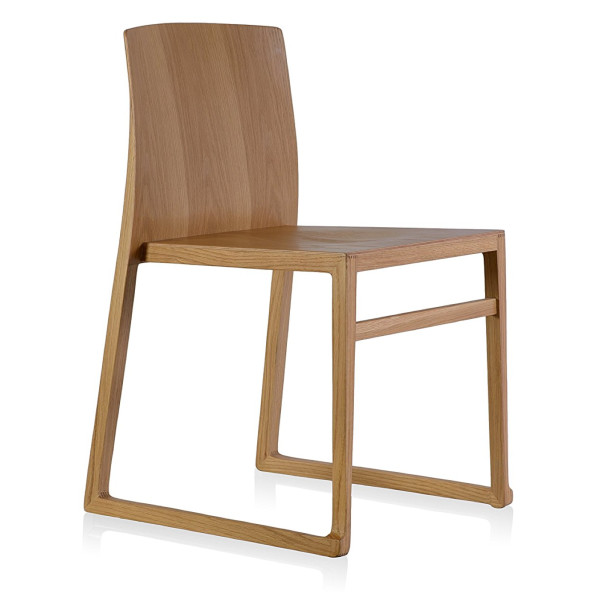 Hanna Sled Chair, Oak