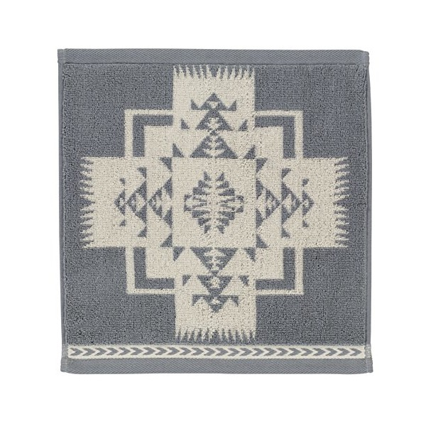 Pendleton Chief Joseph Jacquard Wash Towel, Grey/White
