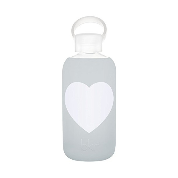 bkr bottle : bubbly glass water bottle + soft silicone sleeve - 500ml