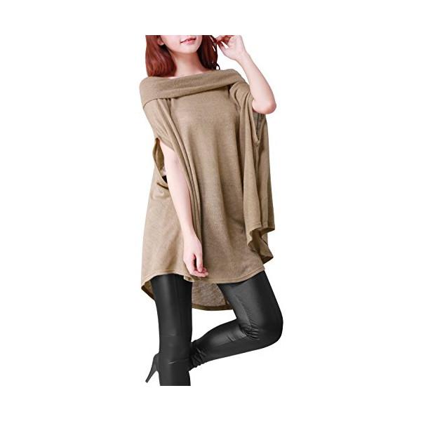 Allegra K Ladies Boat Neck Short Dolman Sleeve Cape Style Fashion Top