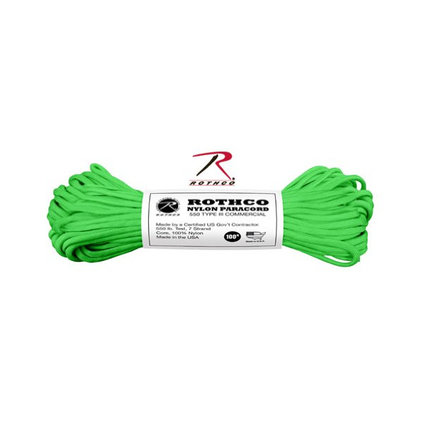 Rothco 550-Pound Safety Type III Commercial (100-Feet, Green)