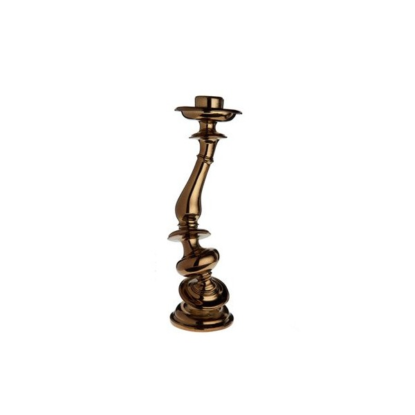 Areaware Distortion Candlestick, Brass Chrome