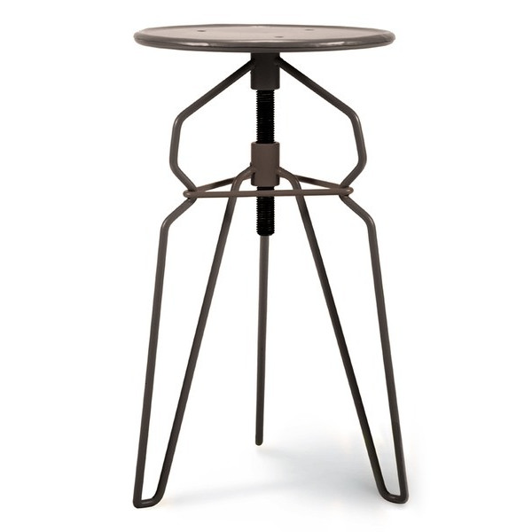 Foreside Iron Adjustable Stool, Metal