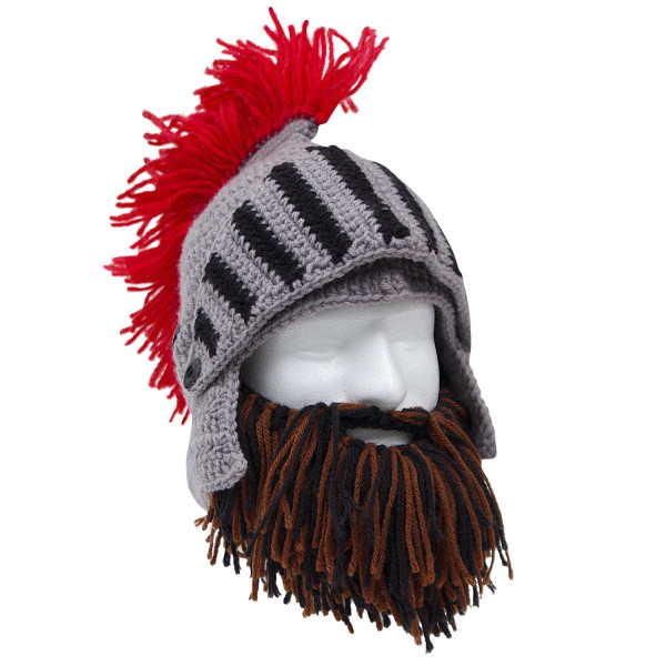 Barbarian Knight Beard Head - Brown/Black
