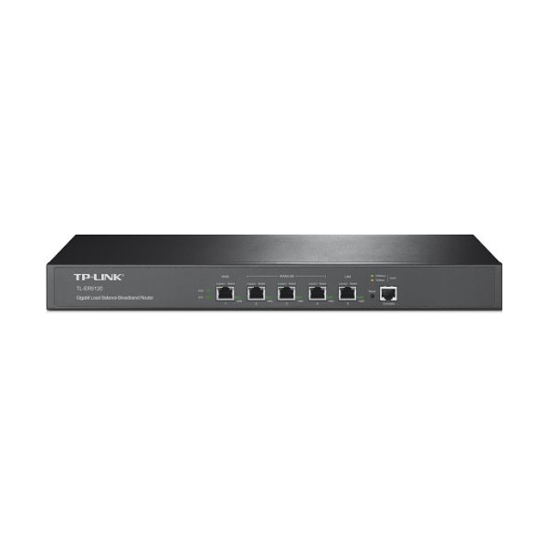 TP-LINK TL-ER5120 5-port Gigabit Multi-WAN Load Balance Router, 1 LAN, 3 Configurable WAN/LAN Ports, 1 Hardware DMZ port