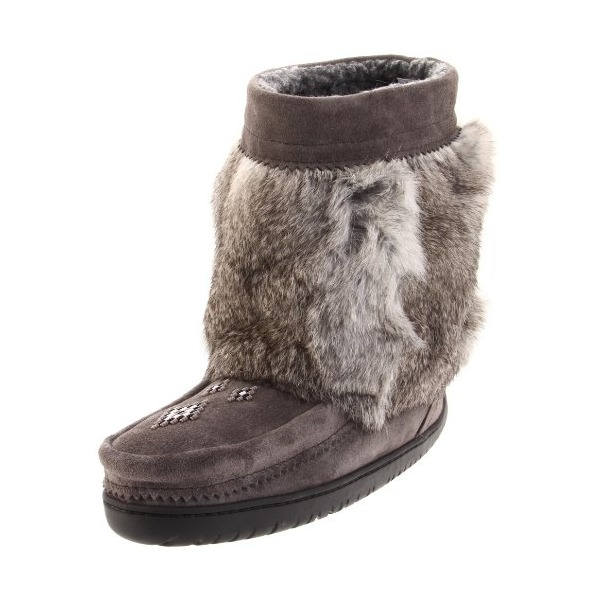 Manitobah Mukluks Half Mukluk 20171 Boot,Charcoal,Women's 7 M US/Men's 5 D US