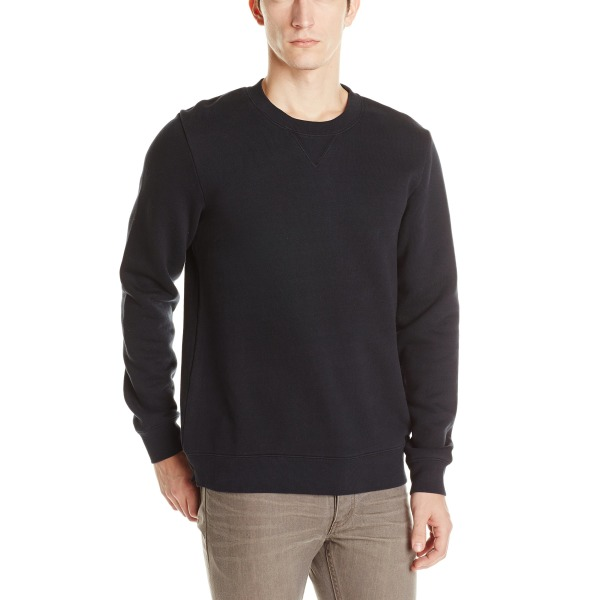 Alternative Men's Heavy French Terry Crew Neck, Black
