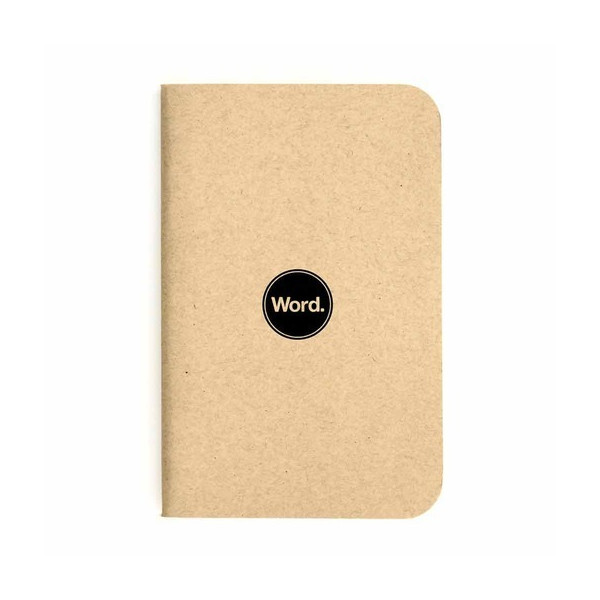 Word Notebook 3-Pack, Natural