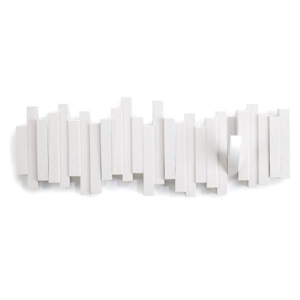 Umbra Sticks Wall-Mount Rack with Five Hooks, White