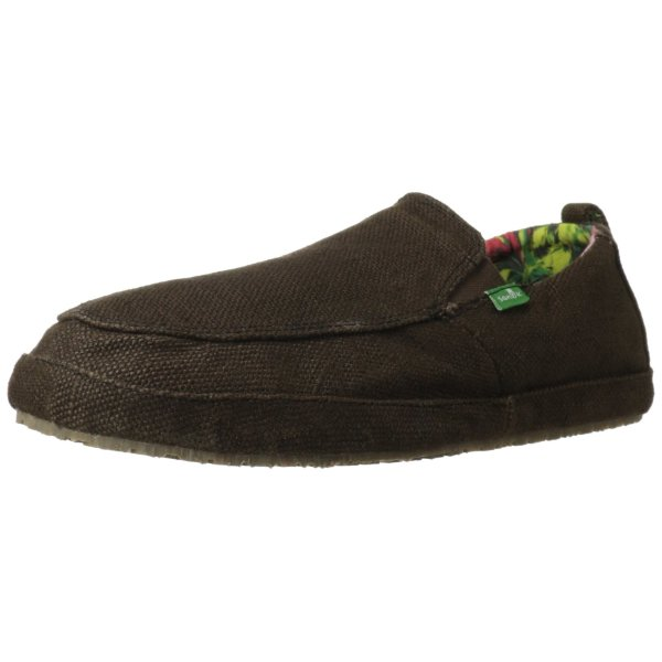 Sanuk Men's Seeker Slip-On Loafer,Charcoal,7 M US