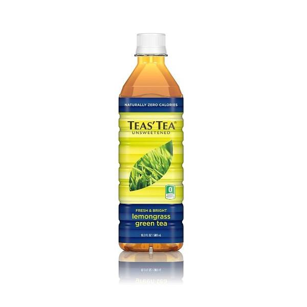 Teas' Tea Lemongrass Green Unsweetened Tea, 16.9-Ounce Bottles (Pack of 12)