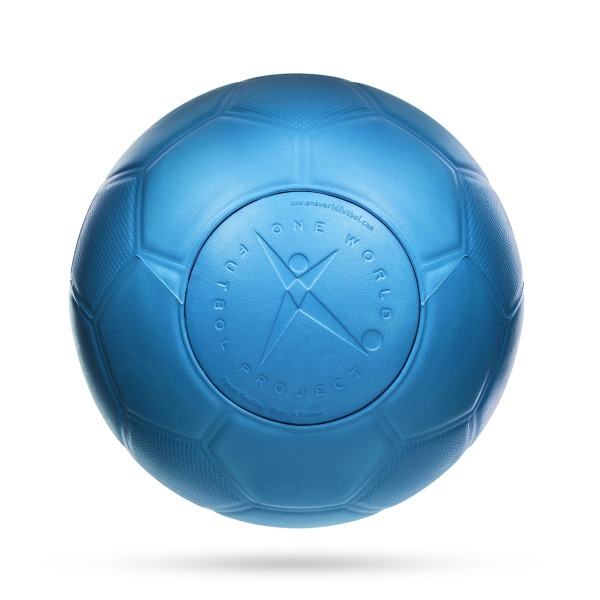 Blue Durable Soccer Ball: One World Futbol