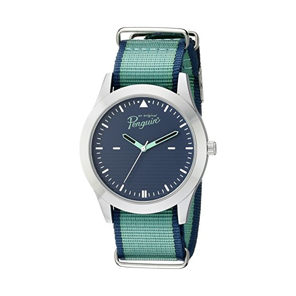 Original Penguin Men's OP4079GR Arthur Analog Display Japanese Quartz Green Watch