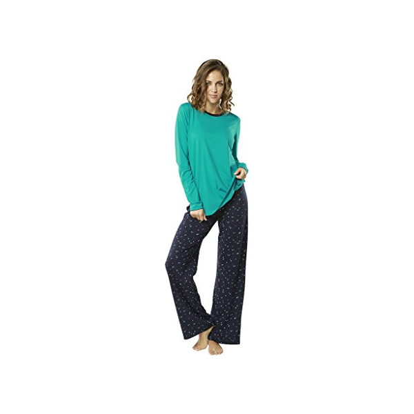 "jijamas® ""The Peaceful Mind"" Women's Pajama Set Medium (Tall) in Turquoise"
