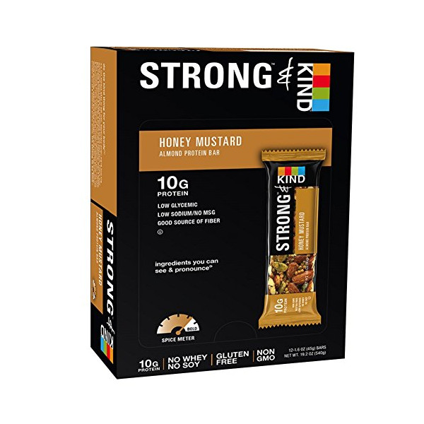 STRONG & KIND Honey Mustard, 1.6 Ounce, 12 Count